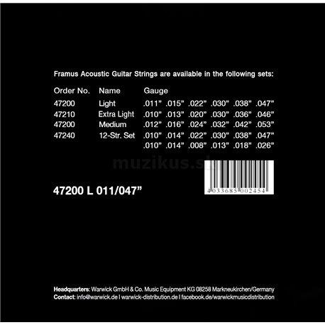 Framus Phosphor Bronze - Acoustic Guitar String Set, Light, .011-.047