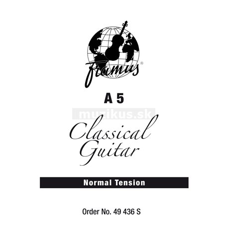 Framus Classic - Classical Guitar Single String, A 5, .035, wound, Normal Tension