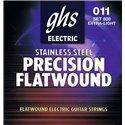 GHS Precison Flatwound - 800 - Electric Guitar String Set, Ultra Light, .011-.046