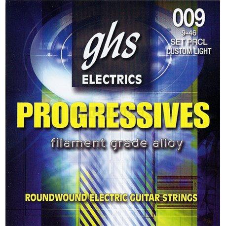 GHS Progressives - PRCL - Electric Guitar String Set, Custom Light, .009-.046