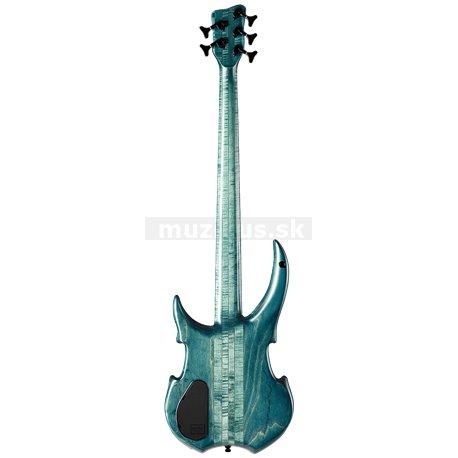 Warwick Masterbuilt Vampyre, 5-String - Turqois Blue Transparent Satin