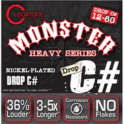 Cleartone Monster Heavy Series Nickel-Plated EMP, Electric Guitar String Set, Drop C, .012-.060