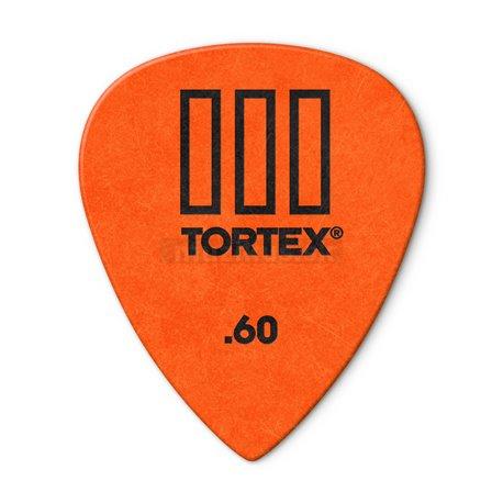 Dunlop Tortex TIII Picks, Player's Pack, 12 pcs., orange, 0.60 mm