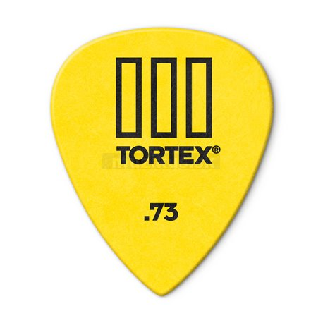 Dunlop Tortex TIII Picks, Refill Pack, 72 pcs., yellow, 0.73 mm