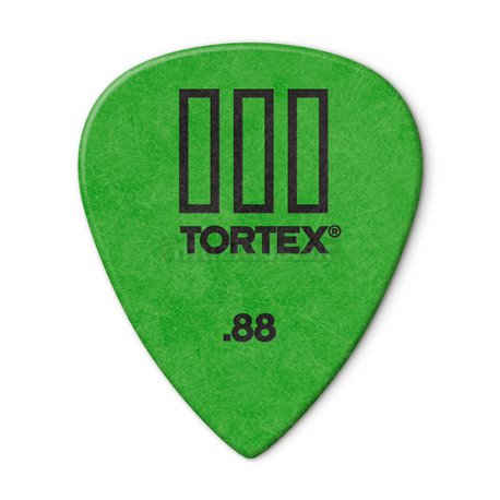 Dunlop Tortex TIII Picks, Refill Pack, 72 pcs., green, 0.88 mm
