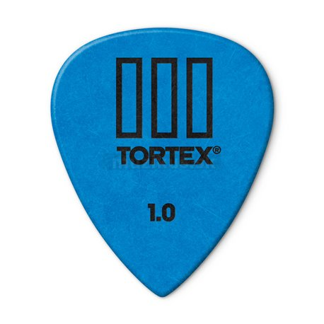 Dunlop Tortex TIII Picks, Refill Pack, 72 pcs., blue, 1.00 mm