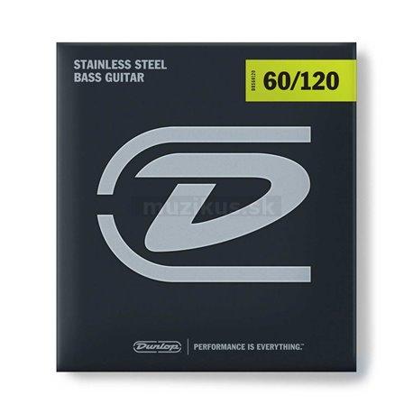 Dunlop Bass Stainless Steel - DBS60120 - Bass String Set, 4-String, Extra Heavy Drop, .060-.120