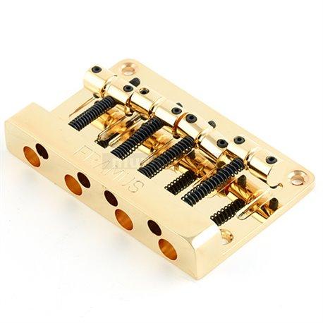 Framus Parts - Framus 1-Piece Bass Bridge, 4-String - Gold