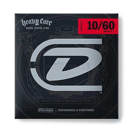Dunlop Heavy Core - DHCN1060 - Electric Guitar String Set, 7-String Heavy, .010-.060