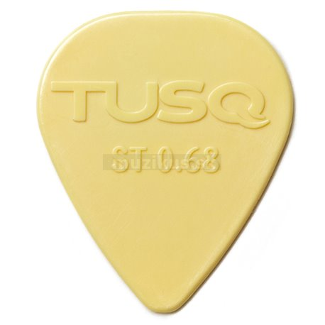 TUSQ Standard Pick 0.68 mm Vintage White, 72 pcs