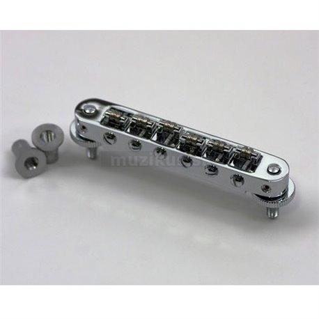TonePros TP6R - Tune-o-matic Bridge, Roller Saddles - Chrome