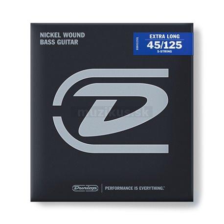 Dunlop Bass Nickel Wound - DBN45125XL - Bass String Set, 5-String, Medium, .045-.125, Extra Long Scale