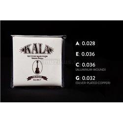 KALA Rectified Black Nylon - KU-RN-T - Ukulele String Set, Tenor, High G