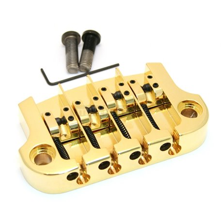 Hipshot Super Tone Bass Bridge - Gold