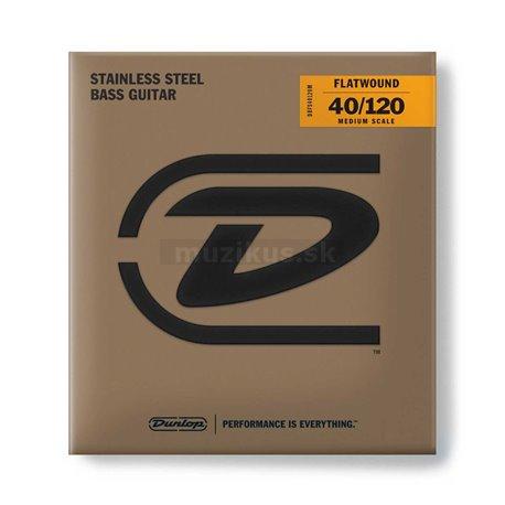 Dunlop Bass Flatwound Stainless Steel - DBFS045120M - Bass String Set, 5-String, Medium Light, .040-.120 - Medium Scale