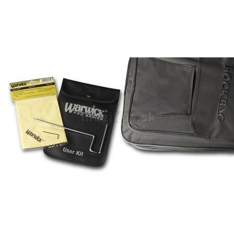 Warwick Teambuilt Pro Series Streamer CV, 4-String, Fretless - Natural Transparent Satin