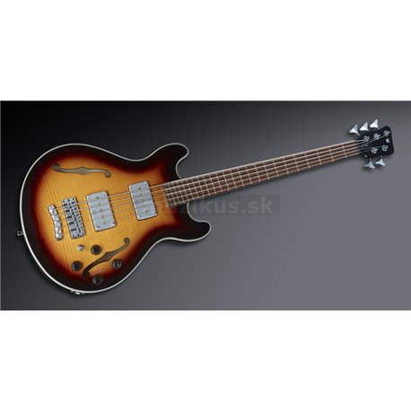 Warwick Teambuilt Pro Series Star Bass Flamed Maple, 5-String - Vintage Sunburst Transparent High Polish - Showroom Model