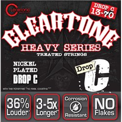 Cleartone Monster Heavy Series Nickel-Plated EMP, Electric Guitar String Set, Drop C, .013-.070