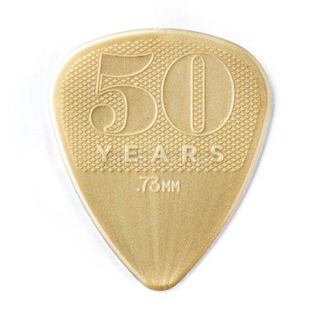 Dunlop 50th Anniversary Gold Nylon Picks, Player's Pack, 12 pcs., 0.73 mm