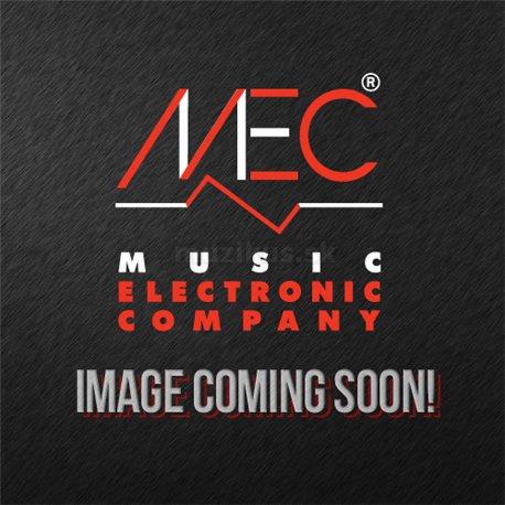MEC Metal Cover MM-Style Bass Pickup Set, 6-String - Brushed Black Chrome