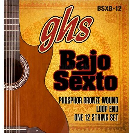GHS Bajo Quinto, Acoustic Guitar String Set, Loop End 12 String, .024-.092