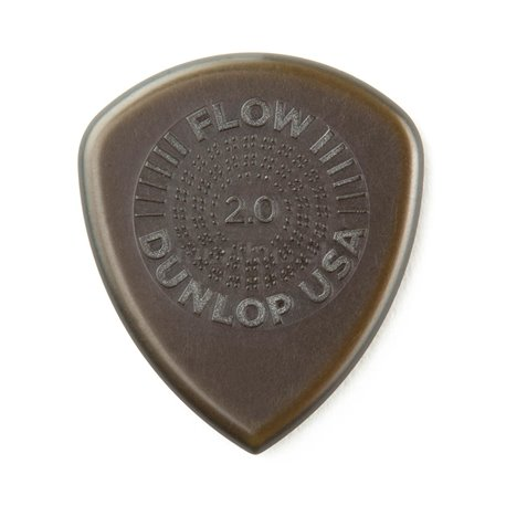 Dunlop Flow Standard Picks with Grip, Refill Pack, 24 pcs., olive, 2.00 mm