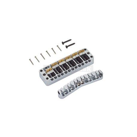 Warwick Parts - 3D Bridge + Tailpiece, 12-String, Brass - Chrome