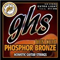 GHS Thin Core Phosphor Bronze - TCB-XL - Acoustic Guitar String Set, Extra Light, .011-.046