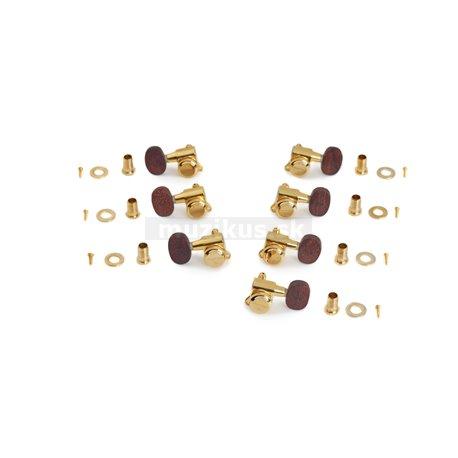 Framus Parts - Ratio Locking Machineheads, 7-String, Rosewood Buttons - Gold