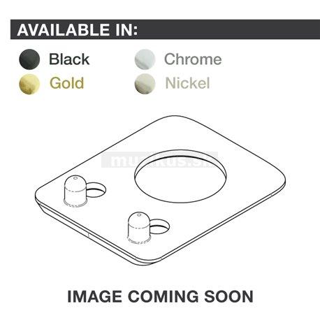 Ratio InvisoMatch PRT-952-201 - Premium Mounting Plates, Fender Style, 2-pin Hole - Nickel
