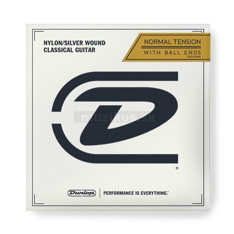 Dunlop Classical Nylon Silver Wound - DCV100NB - Classical Guitar String Set, Normal Tension, Ball End