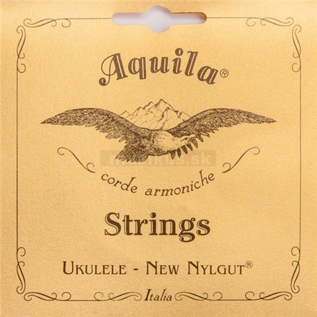 Aquila 24U - New Nylgut, Ukulele String Set, Baritone (D-Gg-B-ee), 6-String (3rd and 4th strings wound)
