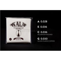 KALA Rectified Black Nylon - KU-RN-TLG - Ukulele String Set, Tenor, Low G
