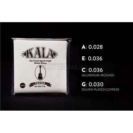 KALA Rectified Black Nylon - KU-RN-TLG - Ukulele String Set, Tenor, Low G