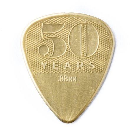 Dunlop 50th Anniversary Gold Nylon Picks, Player's Pack, 12 pcs., 0.88 mm