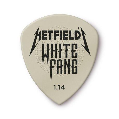 Dunlop Hetfield's White Fang Custom Flow Picks, Refill Bag, 24 pcs., white 1.14 mm