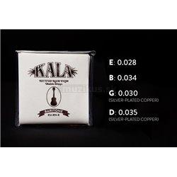 KALA Rectified Black Nylon - KU-RN-B - Ukulele String Set, Baritone