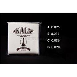 KALA Rectified Black Nylon - KU-RN-C - Ukulele String Set, Concert, High G