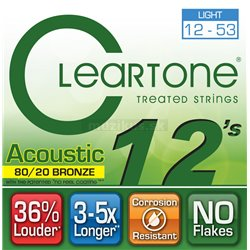 Cleartone Acoustic EMP 80-20 Bronze, Acoustic Guitar String Set, Light, .012-.053