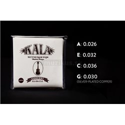 KALA Rectified Black Nylon - KU-RN-CLG - Ukulele String Set, Concert, Low G