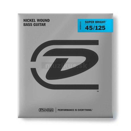 Dunlop Bass Super Bright Nickel, Bass String Set, 5-String, Medium, .045-.125