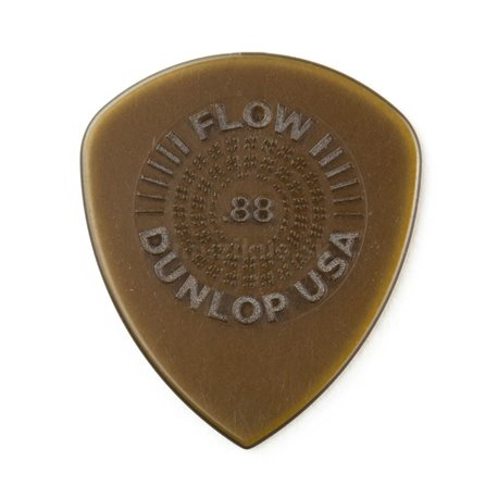 Dunlop Flow Standard Picks with Grip, Player's Pack, 6 pcs., olive, 0.88 mm