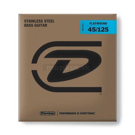 Dunlop Bass Flatwound Stainless Steel - DBFS045125 - Bass String Set, 5-String, Medium, .045-.125