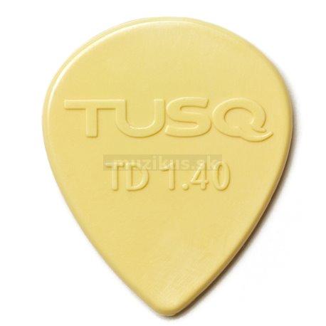 TUSQ - Tear Drop Picks, Player's Pack, 6pcs., vintage white, 1.40 mm