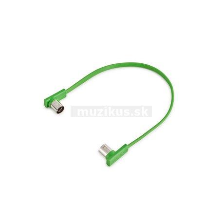 RockBoard Flat MIDI Cable - 30 cm / 11 13/16 - Green