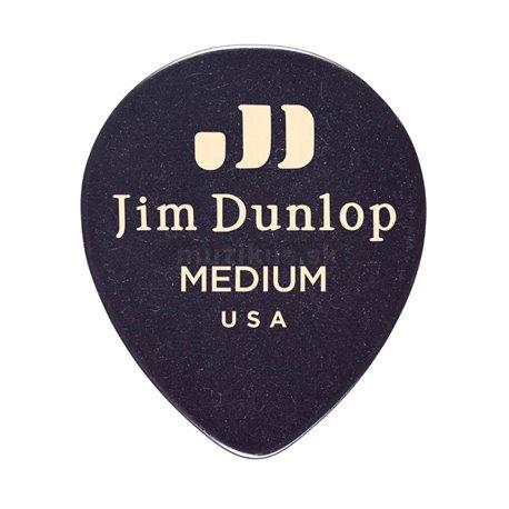 Dunlop Genuine Celluloid Teardrop Picks, Player's Pack, 12 pcs., black, medium