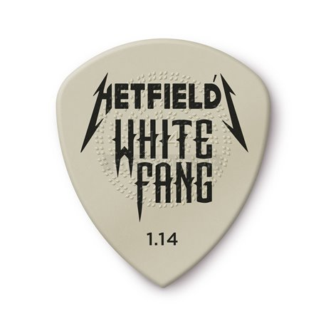 Dunlop Hetfield's White Fang Custom Flow Picks, Player's Pack, 6 pcs., white 1.14 mm