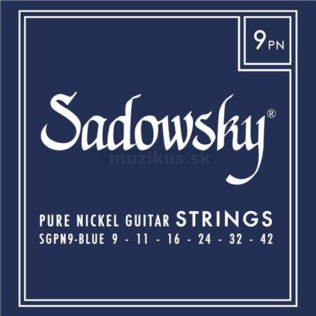 Sadowsky Blue Label Guitar String Set, Pure Nickel - 009-042