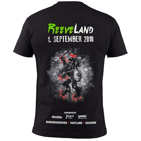 Reeveland 2018 T-Shirt Man, Size XL, Black with Color Print