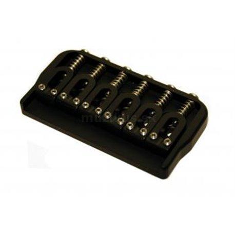 Hipshot Fixed Guitar Bridge for 6-String, .125 / 3.2 mm - Black
